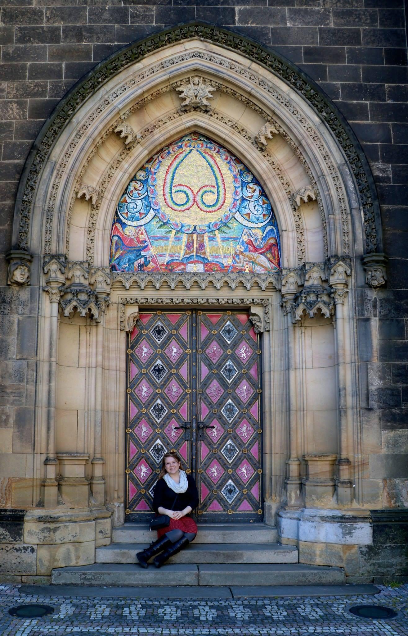 Brooke Prague 2 church door